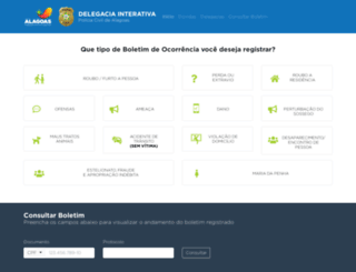 delegaciainterativa.al.gov.br screenshot