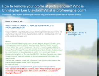 deleteprofileengine.com screenshot