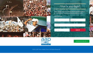 delhi.aamaadmiparty.org screenshot
