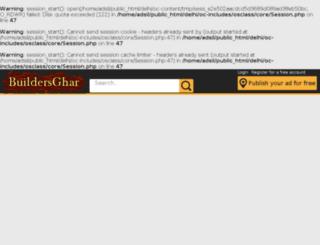 delhi.buildersghar.com screenshot