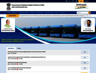 delhi.gov.in screenshot