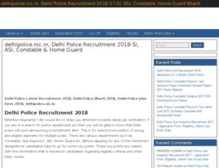 delhi.policerecruitment.news screenshot