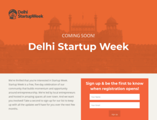 delhi.startupweek.co screenshot