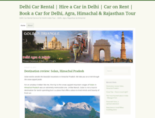 delhicarrentalservice.wordpress.com screenshot