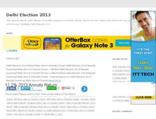 delhielection-2013.com screenshot