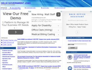 delhigovernmentjobs.in screenshot