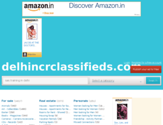 delhincrclassifieds.com screenshot