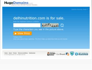 delhinutrition.com screenshot