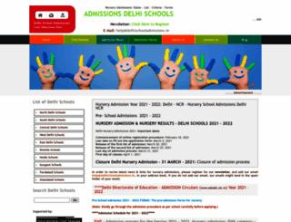 delhischooladmissions.in screenshot