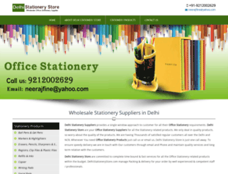 delhistationerystore.com screenshot