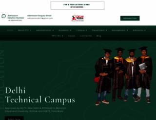 delhitechnicalcampus.com screenshot