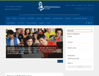 delhituitionguru.com screenshot