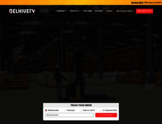 delhivery.com screenshot