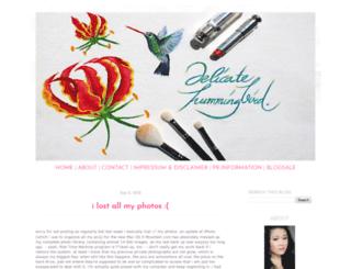 delicatehummingbird.blogspot.com screenshot