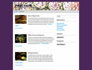 deliciousasheville.wordpress.com screenshot