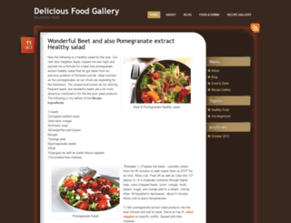 deliciousfoodgallery.wordpress.com screenshot