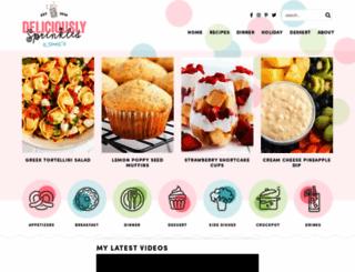 deliciouslysprinkled.com screenshot