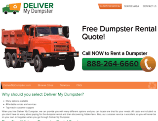 delivermydumpsters.com screenshot