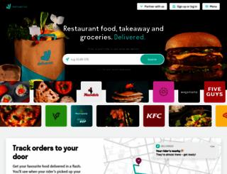 deliveroo.co.uk screenshot