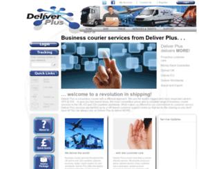 deliverplus.co.uk screenshot