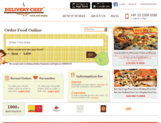 deliverychef.in screenshot