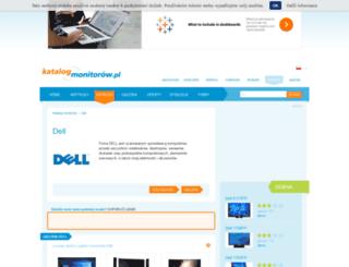 dell.katalog-monitorow.pl screenshot