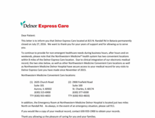 delnorexpresscare.com screenshot