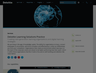 deloitte-learning.com screenshot