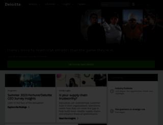 deloitte.com screenshot