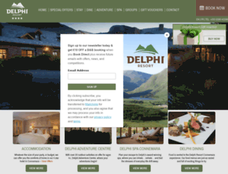 delphiadventureresort.com screenshot