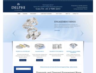delphidiamonds.com.au screenshot