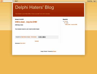 delphihaters.blogspot.com screenshot
