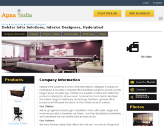 delstarinfra-hyderabad.apnaindia.com screenshot