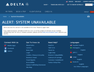 delta.com screenshot