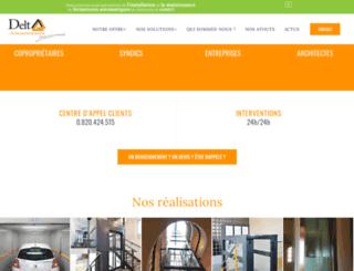 deltaascenseurs.com screenshot