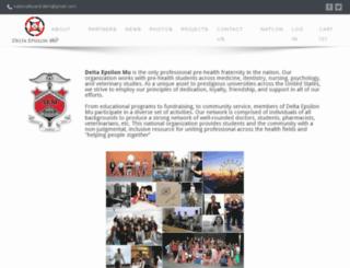 deltaepsilonmu.com screenshot