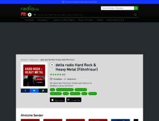deltaradiohardrock.radio.de screenshot
