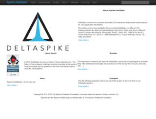 deltaspike.apache.org screenshot