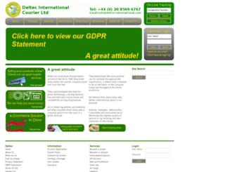 deltec-courier.com screenshot