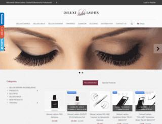 deluxe-lashes.com screenshot