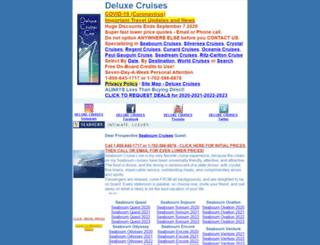 deluxecruises.com screenshot