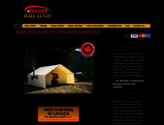 deluxewalltents.com screenshot