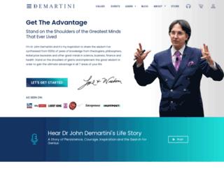 demartiniinstitute.com screenshot