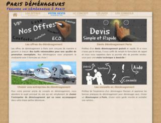 demenageurs2paris.fr screenshot