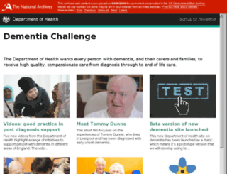 dementiachallenge.dh.gov.uk screenshot