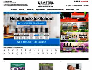 demeterfragrance.com screenshot