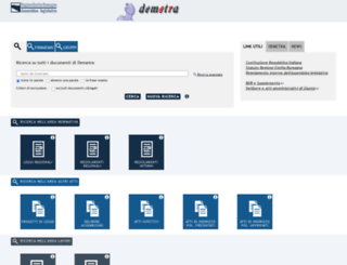 demetra.regione.emilia-romagna.it screenshot