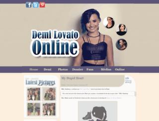 demi-lovato.fr screenshot