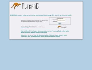 demo.alternc.org screenshot