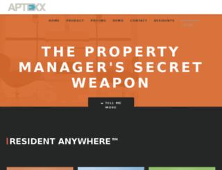 demo.aptexx.com screenshot